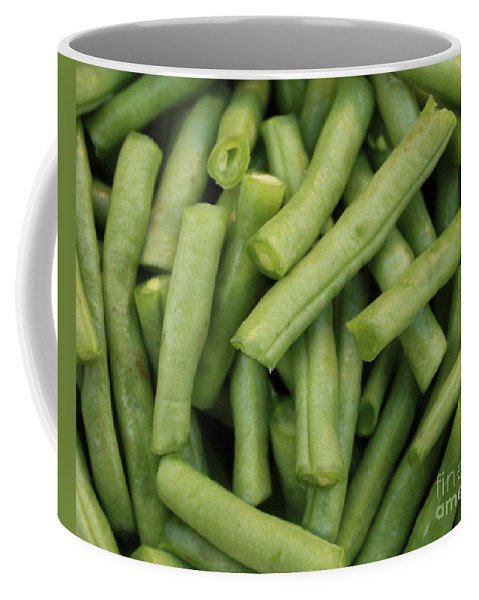Foods Coffee Mug featuring the photograph Green Beans Close-up by Carol Groenen