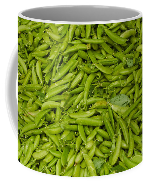 Green Coffee Mug featuring the photograph Green Beans by Thomas Marchessault