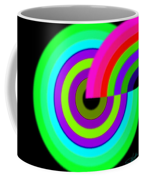 Coffee Mug featuring the painting Green by Charles Stuart