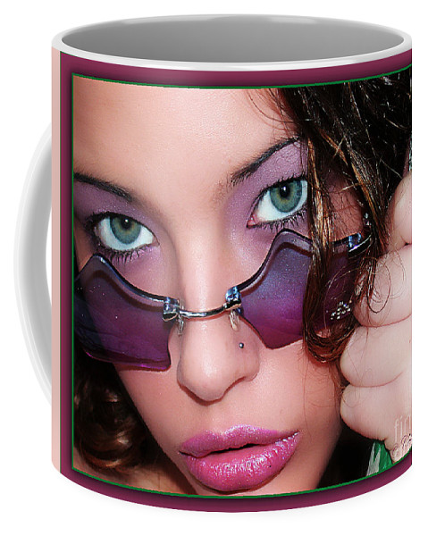 Clay Coffee Mug featuring the photograph Green Eye'd Girl by Clayton Bruster