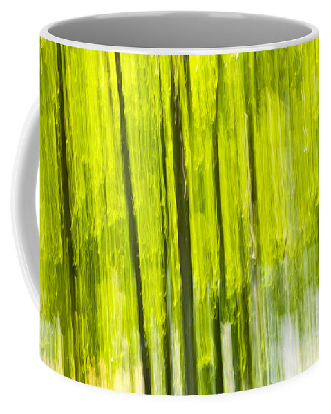 Abstract Coffee Mug featuring the photograph Green Forest Abstract by Elena Elisseeva