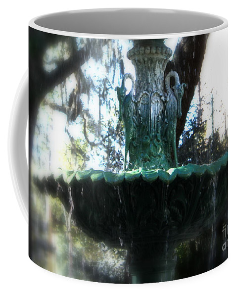 Savannah Coffee Mug featuring the photograph Green Fountain by Carol Groenen