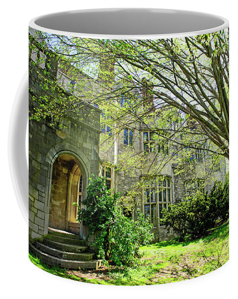 Nature Coffee Mug featuring the photograph Green Garden by Anna Serebryanik
