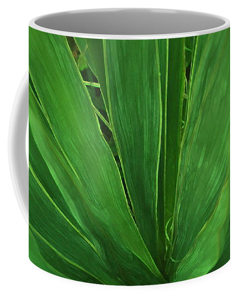 Green Plant Coffee Mug featuring the photograph Green Glow by Linda Sannuti