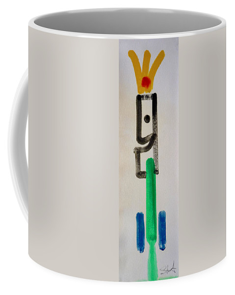 King Coffee Mug featuring the painting Green King by Charles Stuart