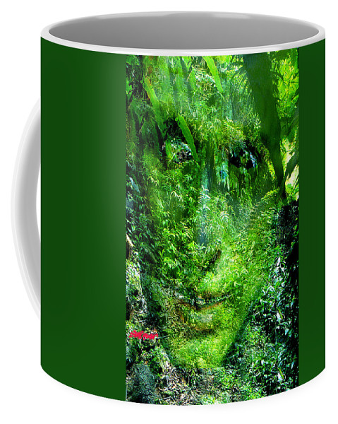 Nature Coffee Mug featuring the digital art Green Man by Seth Weaver