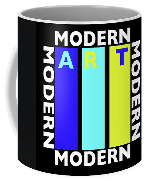 Primary Colors Coffee Mug featuring the painting Green Movement by Charles Stuart