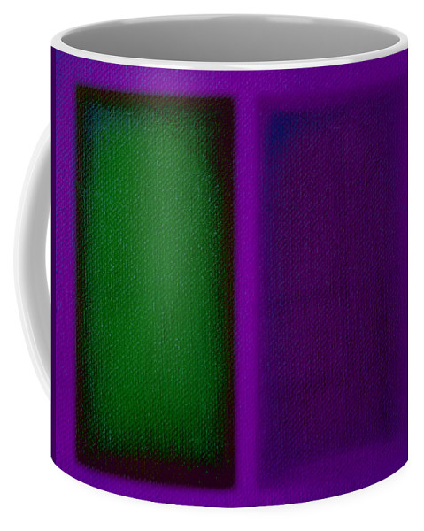 Rothko Coffee Mug featuring the painting Green On Magenta by Charles Stuart