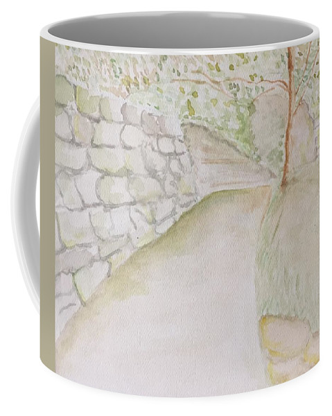 Coffee Mug featuring the painting Green Path by Suzanne Marie