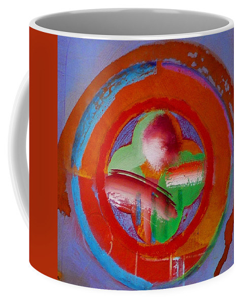 Love Coffee Mug featuring the painting Green Planet by Charles Stuart