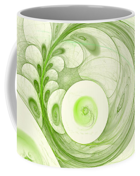 Woman Coffee Mug featuring the digital art Green Power by Steve K