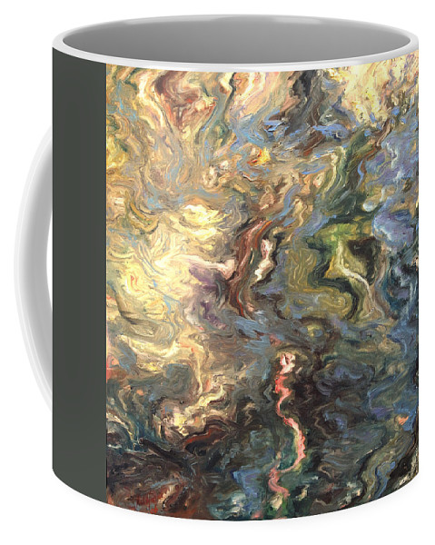 Green Coffee Mug featuring the painting Green by Rick Nederlof