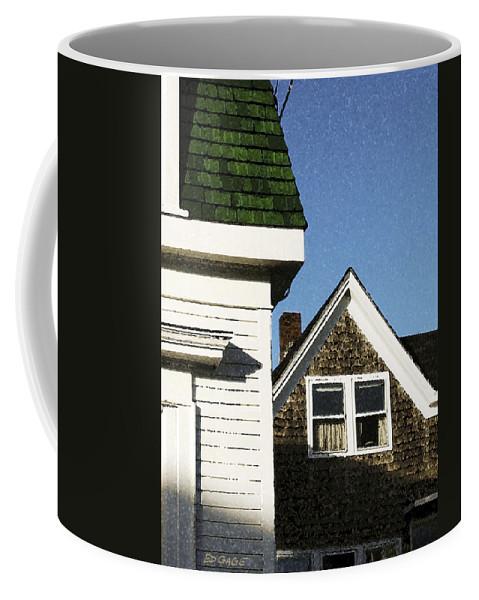 Maine Coffee Mug featuring the photograph Green Roof Stonington Deer Isle Maine Coast by Ed A Gage