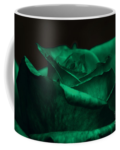 Clay Coffee Mug featuring the photograph Green Rose by Clayton Bruster