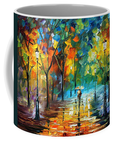 Landscape Coffee Mug featuring the painting Green Tree by Leonid Afremov
