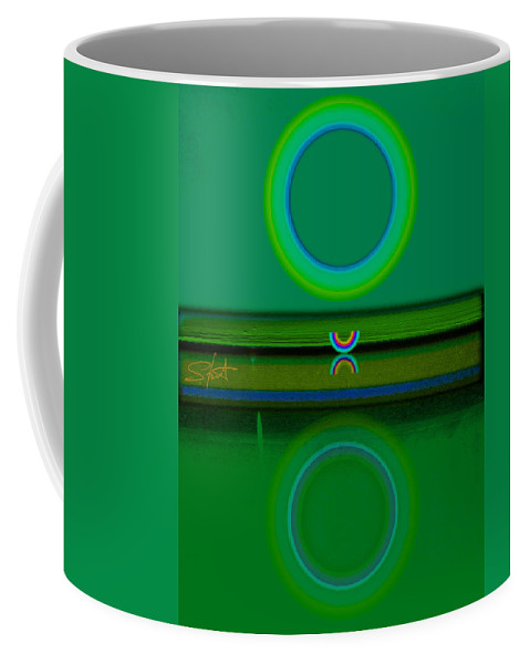 Green Coffee Mug featuring the painting Green Water by Charles Stuart