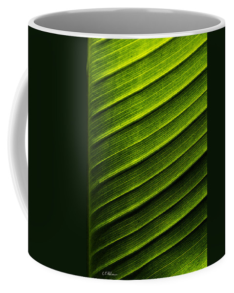 Nature Coffee Mug featuring the photograph Green Waves by Christopher Holmes