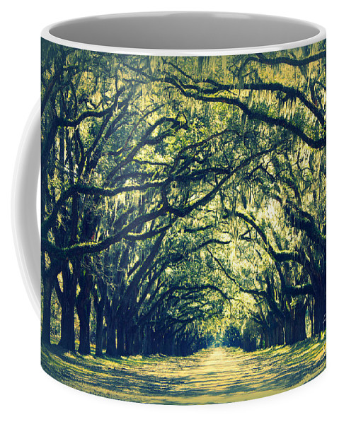 Green Coffee Mug featuring the photograph Green World by Carol Groenen