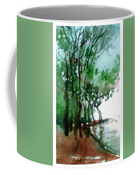 Water Color Coffee Mug featuring the painting Greens by Anil Nene