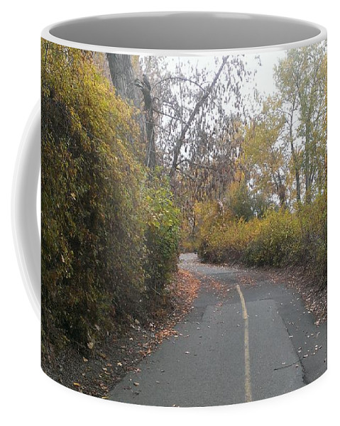 Greenway Coffee Mug featuring the photograph Greenway Trail In The Fall by LKB Art and Photography