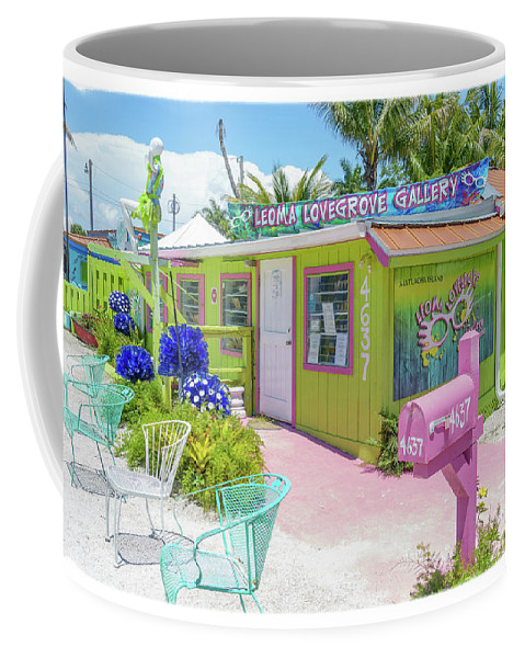 Florida Coffee Mug featuring the photograph Greetings From Matlacha Island Florida by Edward Fielding