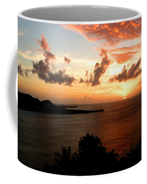 Sunset Coffee Mug featuring the photograph Grenadian Sunset II by Jean Macaluso