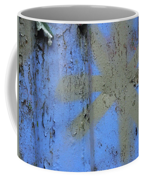 Graffiti Coffee Mug featuring the photograph Grey Star by Philip Openshaw