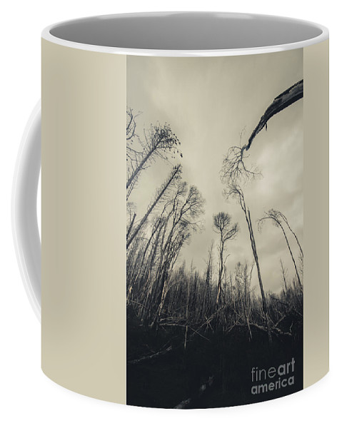 Burnt Coffee Mug featuring the photograph Grey Winds Bellow by Jorgo Photography - Wall Art Gallery