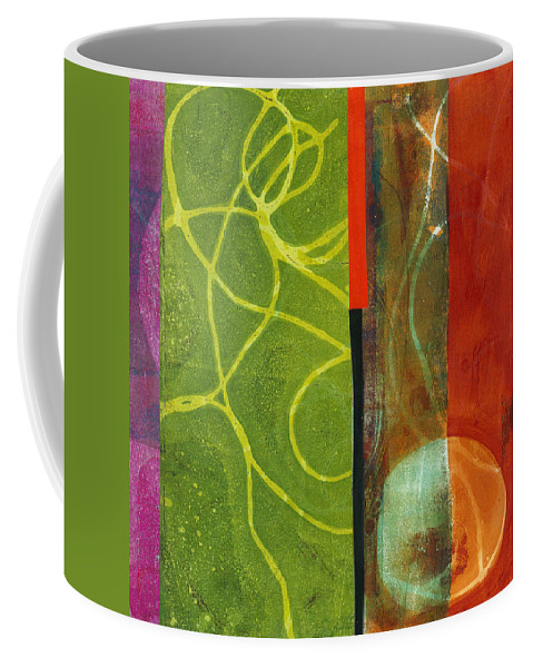 Acrylic And Collage Coffee Mug featuring the painting Grid Print 13 by Jane Davies