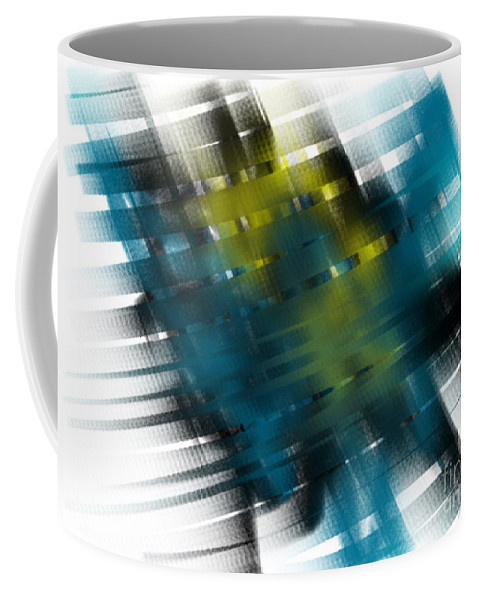 Abstract Coffee Mug featuring the painting Gridlock by Frances Ku