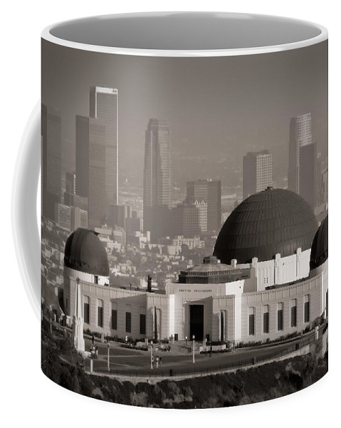 3scape Coffee Mug featuring the photograph Griffith Observatory by Adam Romanowicz
