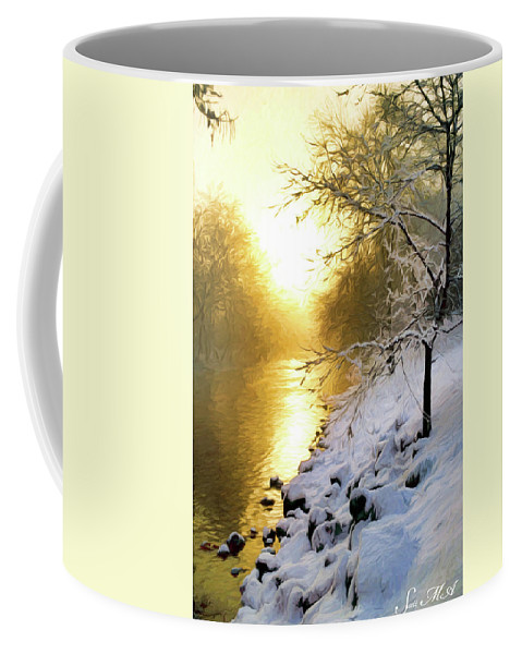 Pennsylvania Coffee Mug featuring the photograph Grings Mill Fog 90-010 by Scott McAllister