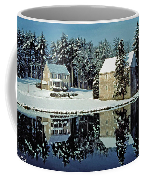 Grings Mill Recreation Area Coffee Mug featuring the photograph Grings Mill Snow 001 by Scott McAllister