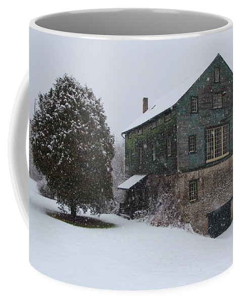 Mill Coffee Mug featuring the photograph Grist Mill Of Port Hope by Davandra Cribbie