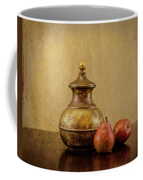 Texture Coffee Mug featuring the photograph Grit And Pears by Rebecca Raybon