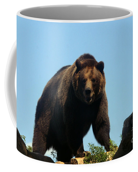 Animal Coffee Mug featuring the photograph Grizzly-7746 by Gary Gingrich Galleries