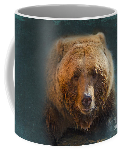 Bear Coffee Mug featuring the photograph Grizzly Bear Portrait by Betty LaRue