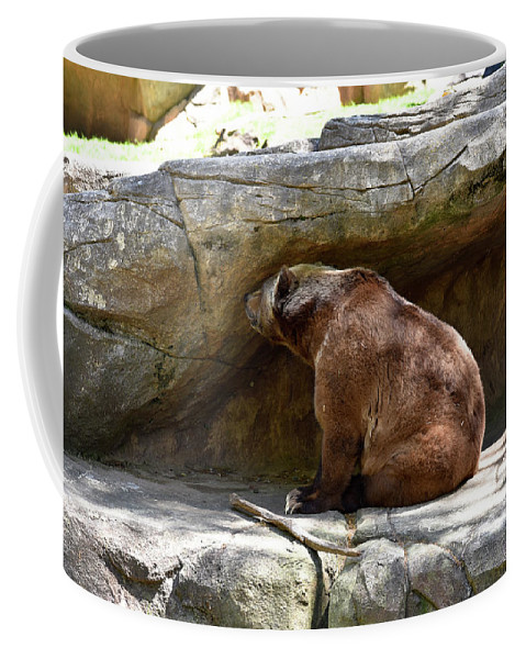 Grizzly Coffee Mug featuring the photograph Monday by Sherri Johnson
