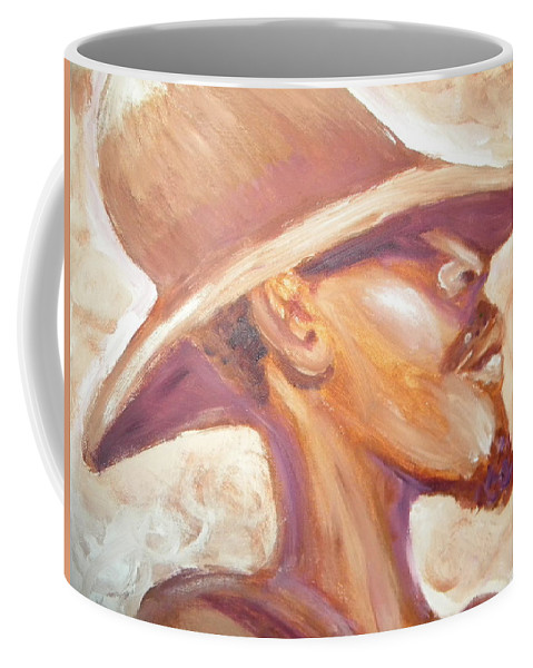 African American Coffee Mug featuring the painting Groovin by Jan Gilmore