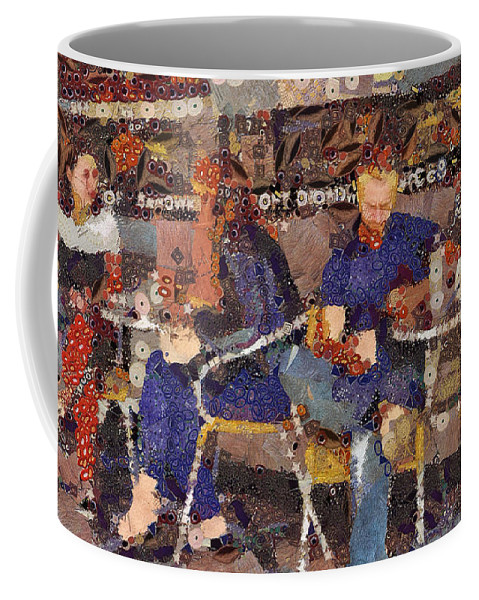 Cafe Coffee Mug featuring the digital art Groundhog Day by Leigh Kemp