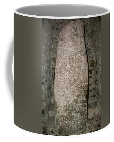 Mexico Quintana Roo Coffee Mug featuring the digital art Groupo Mecanxoc At The Coba Ruins by Carol Ailles