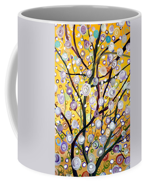Landscape Coffee Mug featuring the painting Growing Together by Luiza Vizoli
