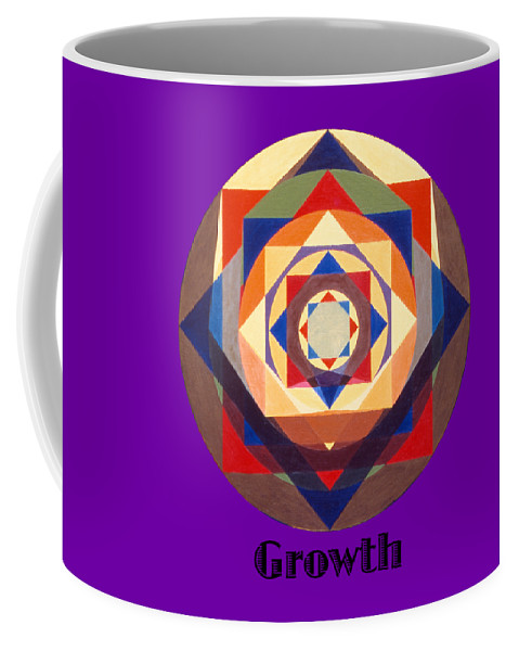 Painting Coffee Mug featuring the painting Growth text by Michael Bellon