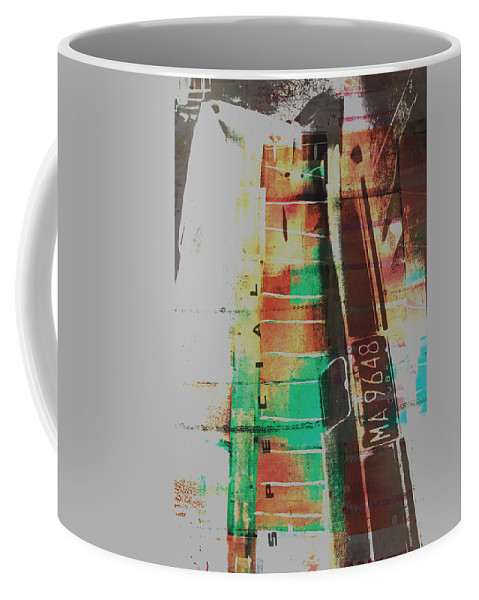 Abstract Coffee Mug featuring the painting Grunge by David Studwell