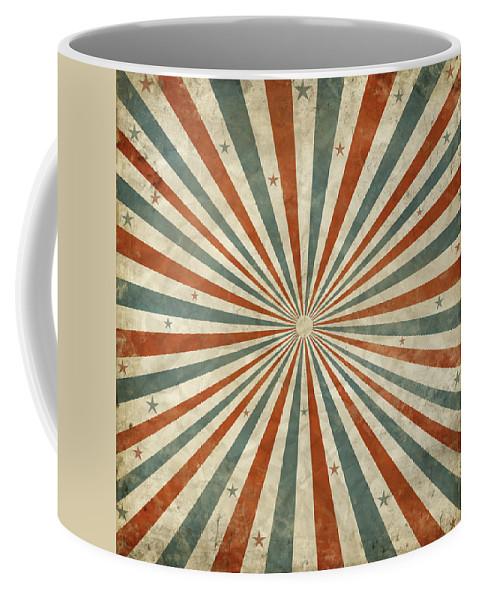 Abstract Coffee Mug featuring the photograph Grunge Ray Retro Design by Setsiri Silapasuwanchai