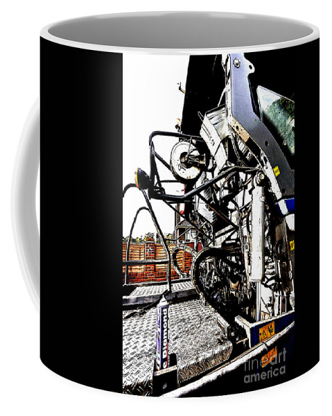 Mechanical Coffee Mug featuring the photograph Grungy Jcb by Terri Waters
