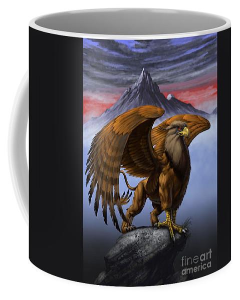 Fantasy Coffee Mug featuring the digital art Gryphon by Stanley Morrison
