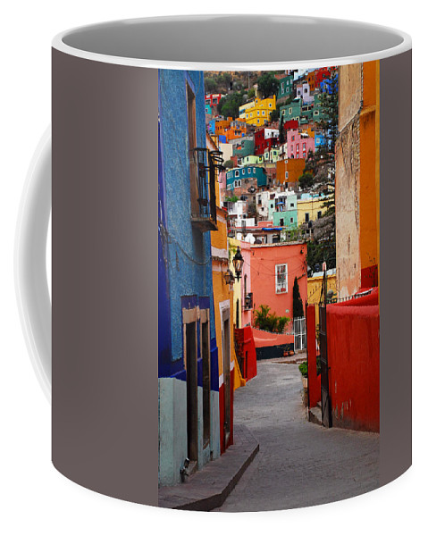 Skip Hunt Coffee Mug featuring the photograph Guanajuato Lane by Skip Hunt