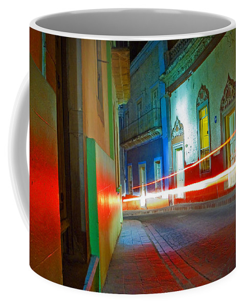 Shadow Coffee Mug featuring the photograph Guanajuato Night by Skip Hunt