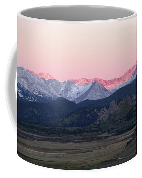 Rocky Mountains Coffee Mug featuring the photograph Guanella Sunrise by Marie Leslie